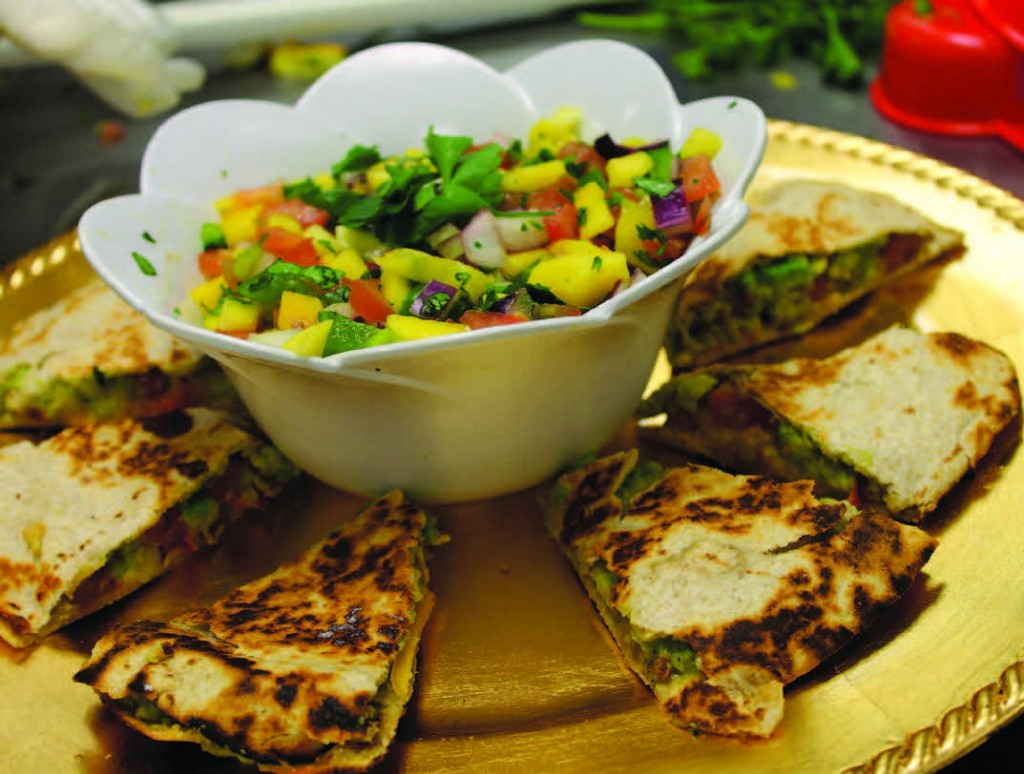 Sixth-grader Lucy Peterkin's Tomato and Avocado Quesadillas with Mango Salsa won the Top Appetizer prize.