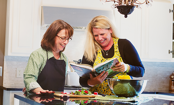 Recipe editors Mary Oswald and Julie Kolpin aim for simplistic recipes that anyone can mimic and make into their own.