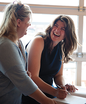 t one of numerous book-signing events, Summer pens an autograph on the first page of  New Prairie Kitchen. Summer is tirelessly promoting the cookbook and those featured within its pages across the country.