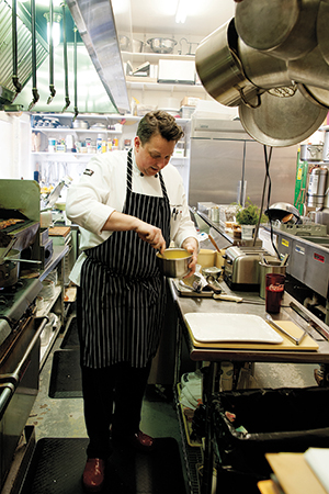 Chef Michael Glissman grew up in Bancroft, Nebraska, but left soon after graduating from high school to attend the New England Culinary Institute in Montpelier, Vermont. He later moved to California where he worked with many notable chefs, until returning to Nebraska two decades later.