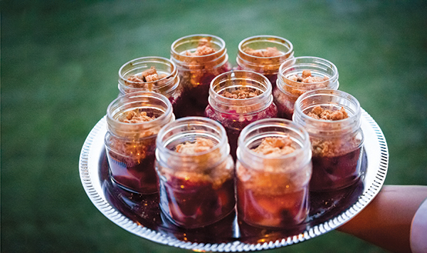 For dessert, guests were treated to an apple and aronia berry cobbler.