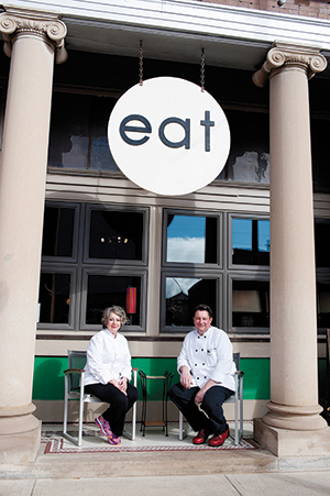 Lin Schwanebeck and her son, Michael Glissman, have high hopes for Eat, the new restaurant they opened together in the village of Dodge, Nebraska.